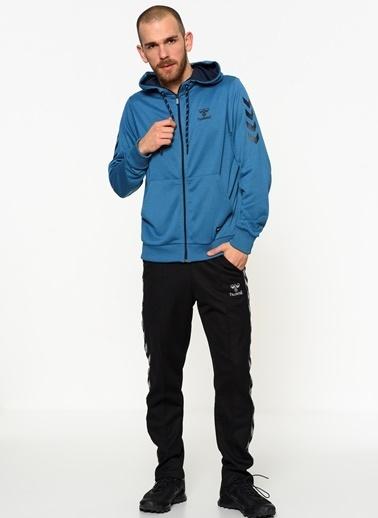 Hummel Fermuarlı Kapüşonlu Sweatshirt Mavi